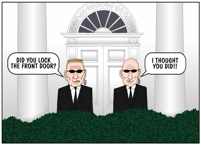 Image result for secret service incompetent cartoon