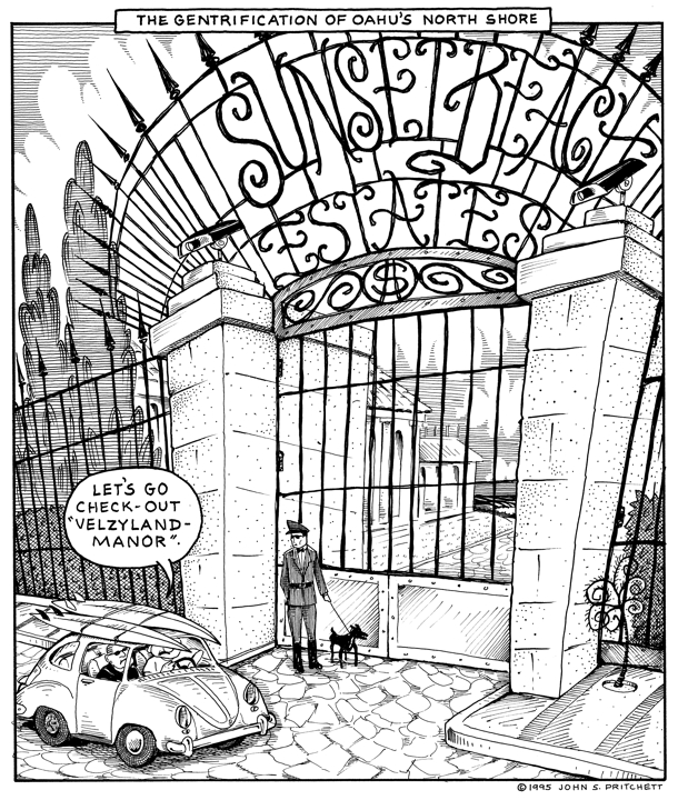 The Gentrification Of Oahus North Shore Cartoon Gated Surf Spots