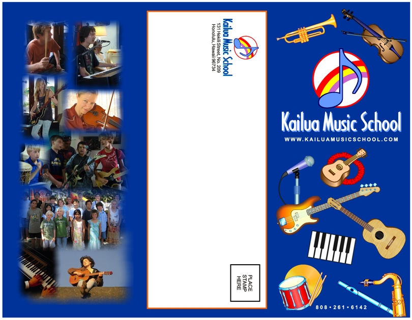 Brochure Design For Kailua Music School Corporate Brochure Design