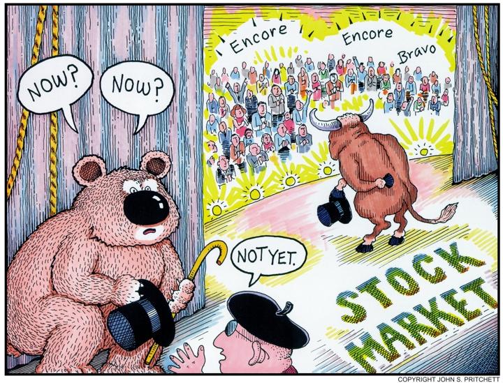 Image result for cartoons bear stock market
