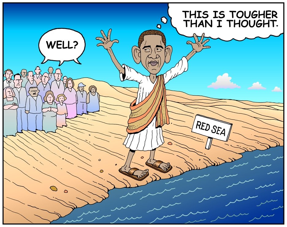Image result for messiah obama cartoons