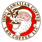 Christmas sticker design for LBD Coffee Company.
